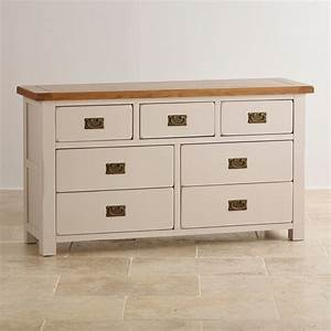 Kemble 34 Chest Of Drawers In Rustic Painted Solid Oak