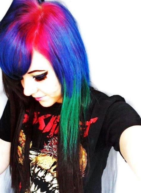 10 Best Tye Dye Hair Images On Pinterest Colourful Hair