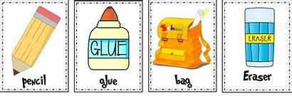 Classroom Eraser Clipart Flashcards Objects Preschool Esl