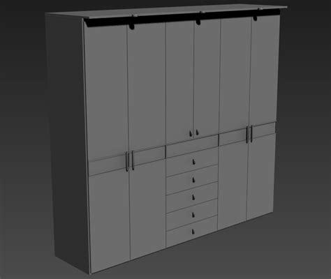 wooden wardrobe furniture blocks design ds max file