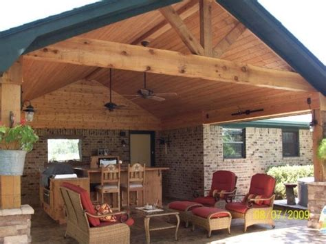 covered outdoor kitchens  patios rustic outdoor