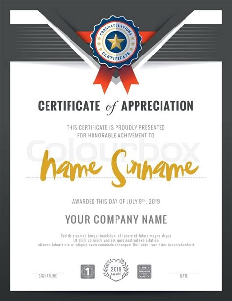 modern certificate triangle shape background frame design