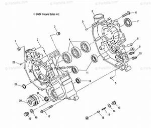 Polaris Side By Side 2004 Oem Parts Diagram For Crankcase