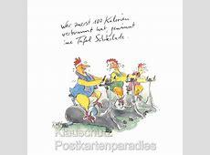 100 Kalorien Peter Gaymann Hühner Postkarte