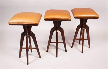 Stools Bar Custom Sculptural Wood Caramel Colored