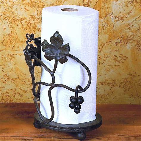 wrought iron grape vine paper towel holder
