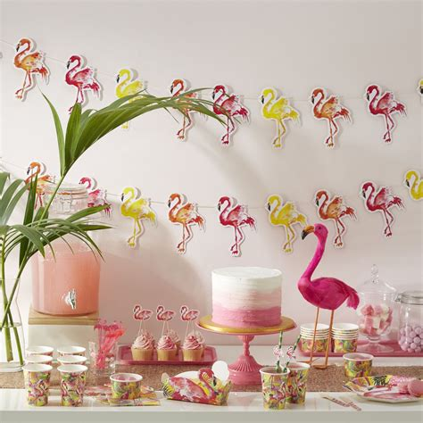 decoration fete flamant rose flamingo summer party