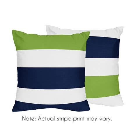 lime green throw pillows navy blue and lime green stripe decorative accent throw