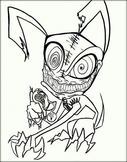 Coloring Scary Pages Adults Printable Adult Sheets