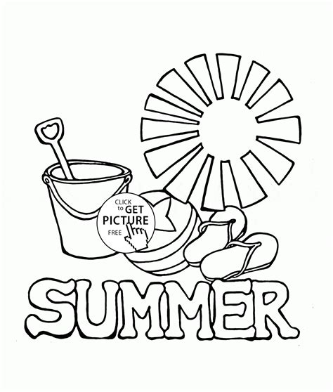 Free Preschool Summer Coloring Pages  Az Coloring Pages