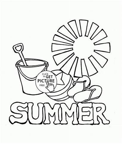 Coloring Summer Pages Colouring Seasons Preschool Season