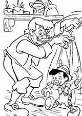 Pinocchio Geppetto Burattino Trickfilmfiguren sketch template