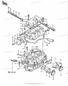 Kawasaki Motorcycle 1975 Oem Parts Diagram For Cylinder