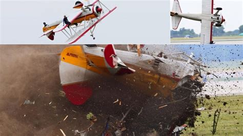 Wing walker and pilot die in crash at Ohio air show ...