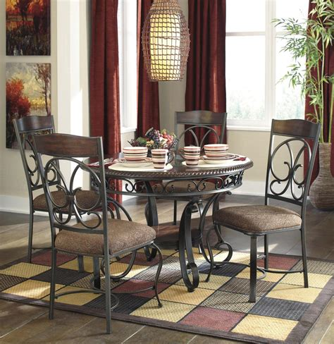 glambrey pc  dining room set  brown  dining