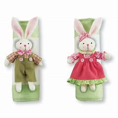 Easter Bunny Kitchen Appliance Handle Covers  3 Piece