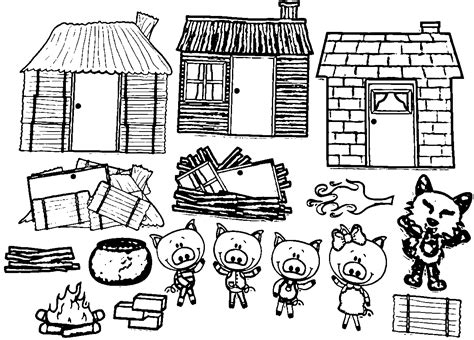 Pig House Coloring Pages
