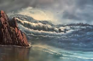 livingroom paintings raging sea everett boyer bob ross style paintings