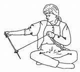 Spindling Spindle Weaving Spinning Yarn Anasazi sketch template