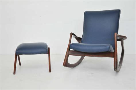 rocking chair and ottoman vladimir kagan rocking chair with ottoman at 1stdibs