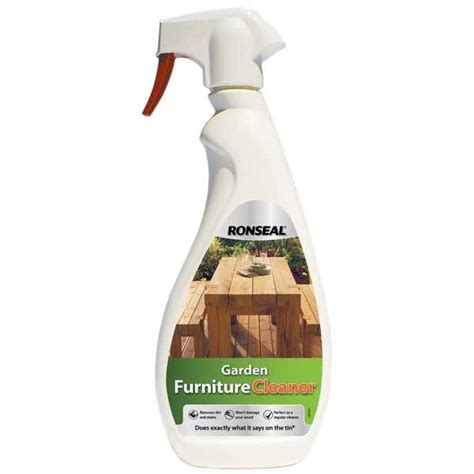 ronseal garden furniture cleaner spray wood finishes direct