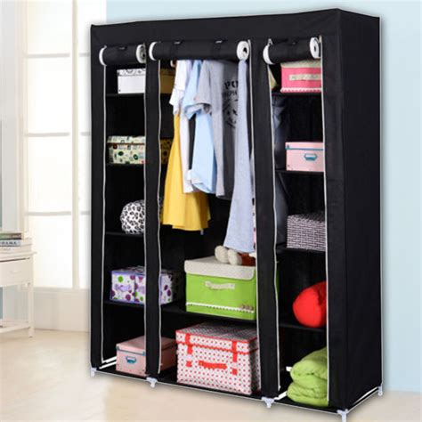 Closet Closet Organizer by Heavy Duty 53 Quot Portable Closet Wardrobe Clothes Rack