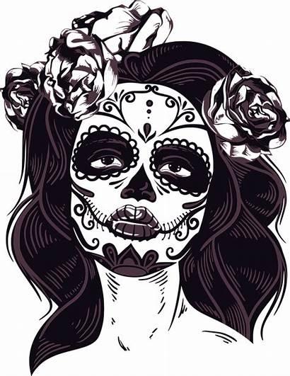 Horror Mask Female Transparent Clipart Skull Vector