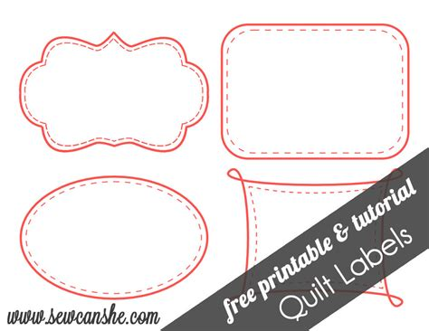 Free Downloadable Labels Template by Quilt Labels Free Printable Sewcanshe Free Daily