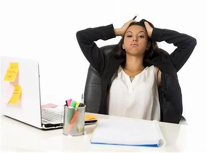 Hispanic Secretary Attractive Businesswoman Office Breakdown Suffering