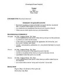 another name for sequential resume 50 free microsoft word resume templates for