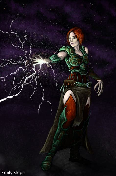 lightning mage concept by emilystepp on