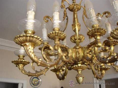 lampara de bronce lampara de techo bronce  laton