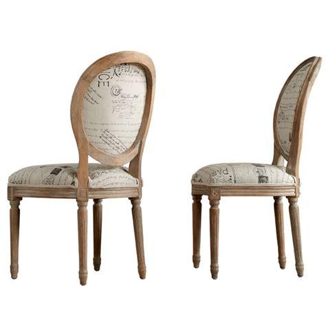 chaises médaillon chaise médaillon en chêne et