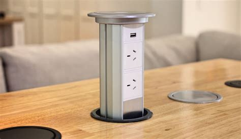 pop up electrical outlets for kitchen islands v3m motorised automatic led pop up power outlet point 9737