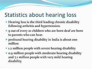 Deafness statistics & causes