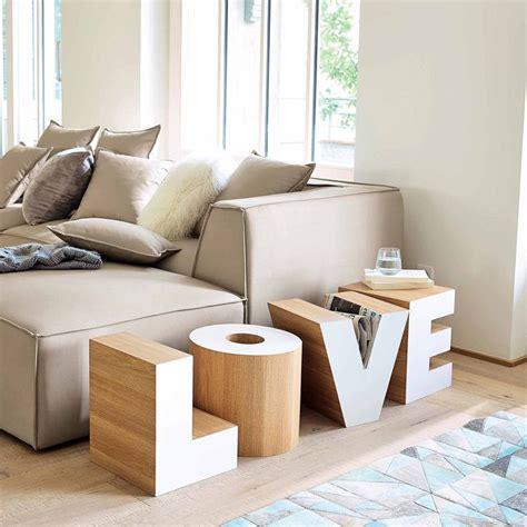 bout de canap 233 en bois blanc l 121 cm maisons du monde mdm contemporain