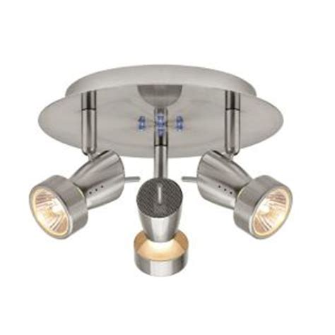 hton bay 3 light brushed nickel semi flush
