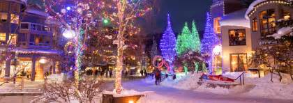 Out Door Lights by Whistler Bc Canada Christmas And New Year S In Whistler