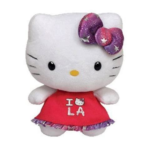 ty beanie baby hello kitty i love los angeles 6 5