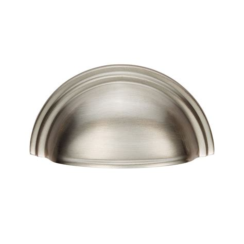 Kitchen Door Handles Screwfix by C47 Sn Solid Brass Cup Drawer Pull By