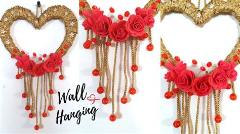 craft decorations new heart wall hanging craft ideas easy wall decoration ideas for living room by maya attachment