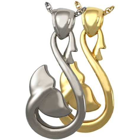 Wholesale Cremation Jewelry: Infinity Whale Tail