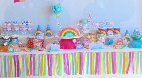 la sweet table d 233 co d anniversaire quot arc en ciel quot les photos allo maman dodo