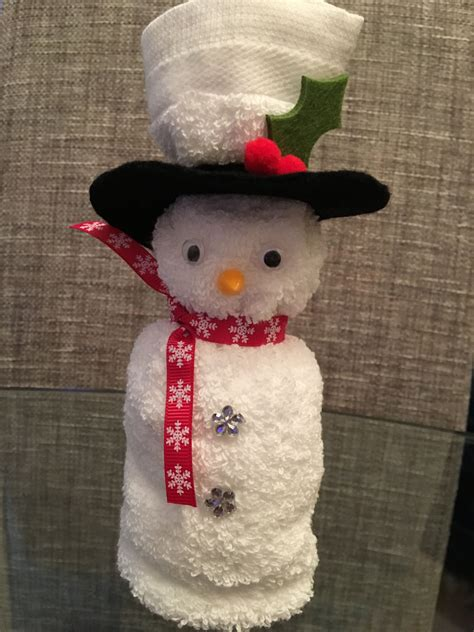 face cloth snowman xmas crafts christmas crafts