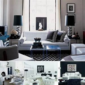 white and black room ideas apartments i like blog With black and white interior design living room