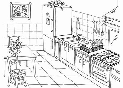 Kitchen Coloring Pages Clean Modern