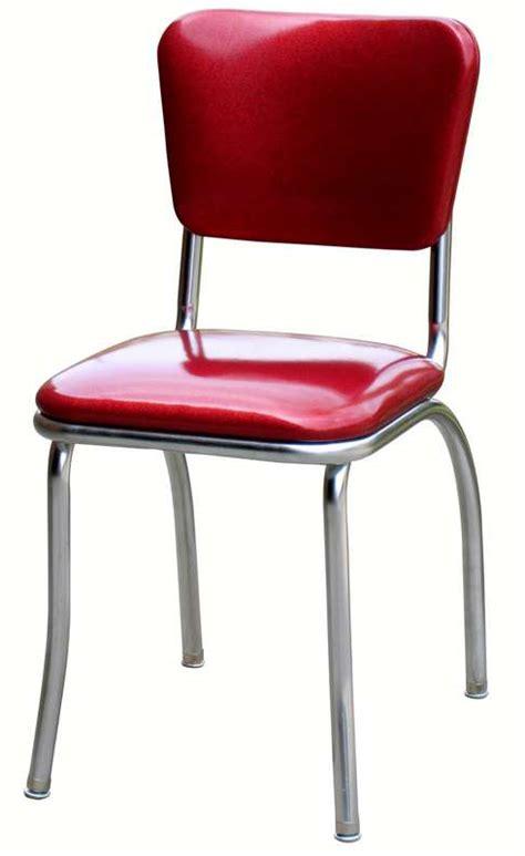 Red Diner Chair  1950's Red Vinyl Kitchen Chair Diner