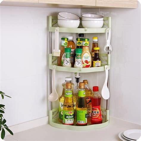 bathroom organizer plastic triangle corner shelf kitchen storage spice rack  storage holders