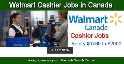 walmart cashier in canada salary 1760 to 2000