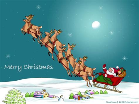Animated Fly Wallpaper - 28 best santa flying reindeer sleigh wallpapers images on